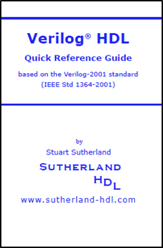 Verilog-2001 HDL Quick Reference Guide Book Cover